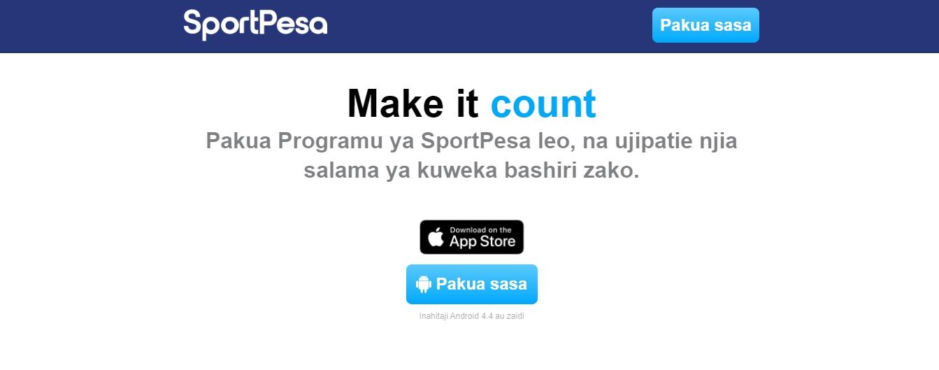 SportPesa login mobile